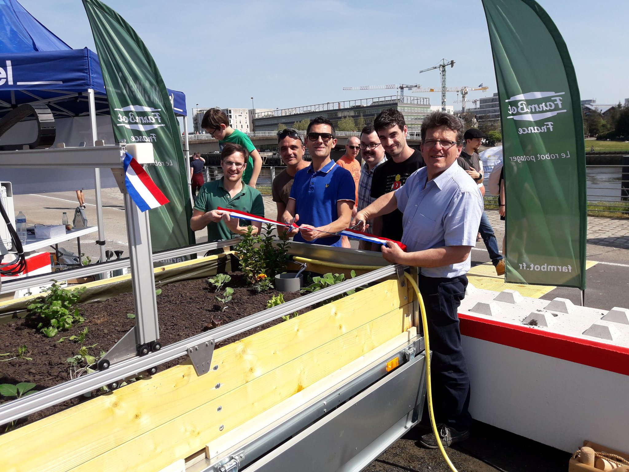 Inauguration du Farmbot 1.3 de l'IUT de l'Université de Nantes