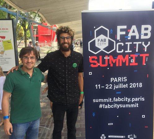 Rory Aronson, fondateur de Farmbot, et Geoffroy, secrétaire de Farmbot France.